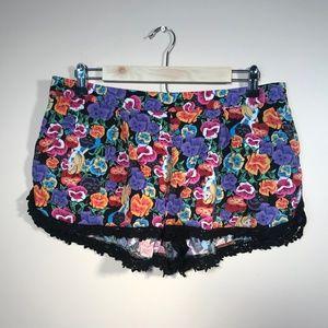 Disney Alice in Wonderland Multi Colored Shorts